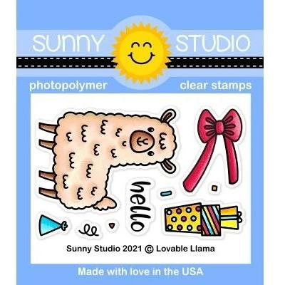Sunny Studio Clear Stamps - Lovable Llama