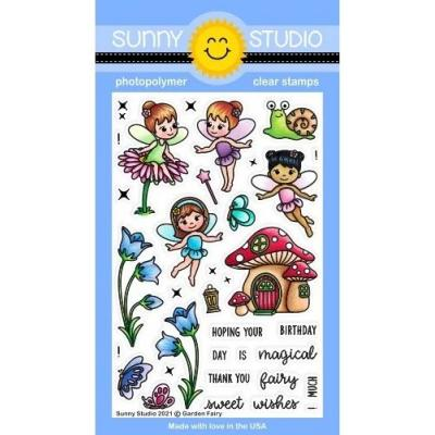 Sunny Studio Clear Stamps - Garden Fairy