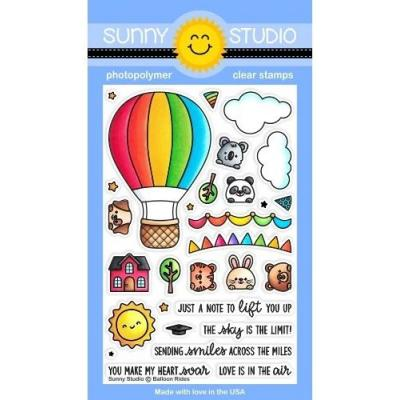 Sunny Studio Clear Stamps - Balloon Rides