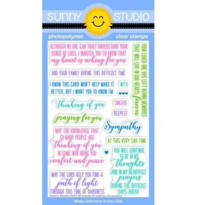 Sunny Studio Clear Stamps - Inside Greetings Sympathy