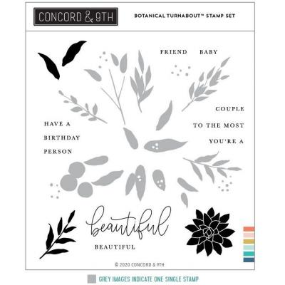 Concord & 9th Clear Stamps - Botanical Turnabout