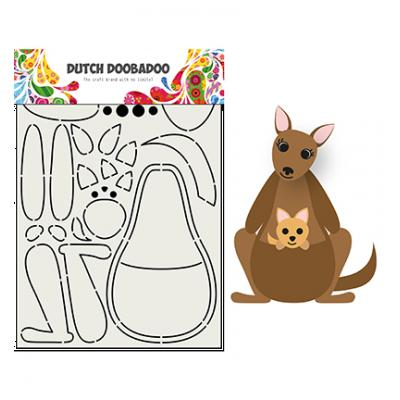 Dutch DooBaDoo Card Art Built - Built Up Kangaroo