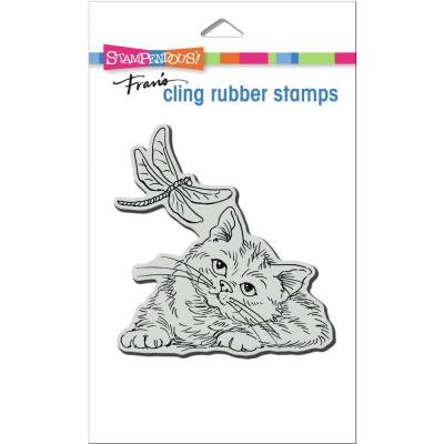 Stampendous Cling Stamp - Dragonfly Kitten
