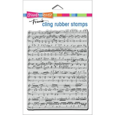 Stampendous Cling Stamp - Background Music