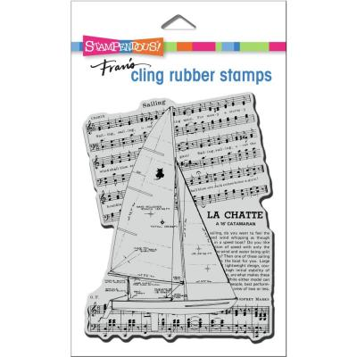 Stampendous Cling Stamp - Catamaran Sail