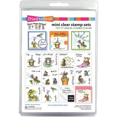 Stampendous Mini Clear Stamps Set - House Mouse Spring