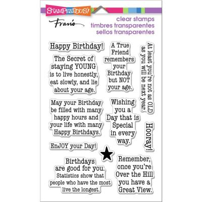 Stampendous Perfectly Clear Stamps - Birthday Age