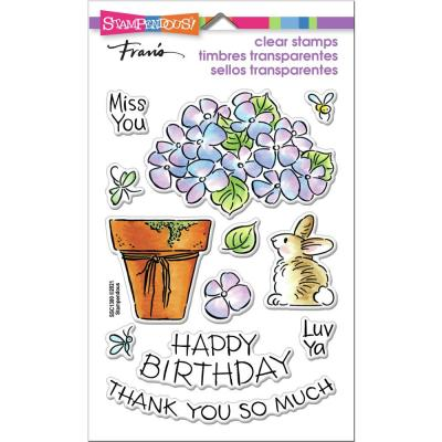 Stampendous Perfectly Clear Stamps - Pop Hydrangea