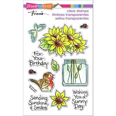 Stampendous Perfectly Clear Stamps - Pop Sunflower