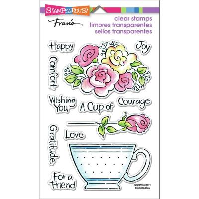 Stampendous Perfectly Clear Stamps - Pop Rose Teacup