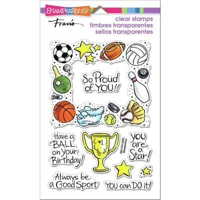 Stampendous Perfectly Clear Stamps - Sports Frame