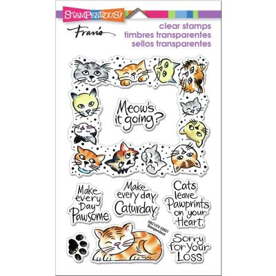 Stampendous Perfectly Clear Stamps - Kitty Frame