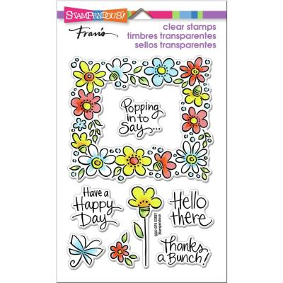 Stampendous Perfectly Clear Stamps - Flower Frame