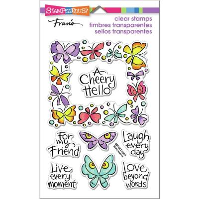 Stampendous Perfectly Clear Stamps - Winged Frame
