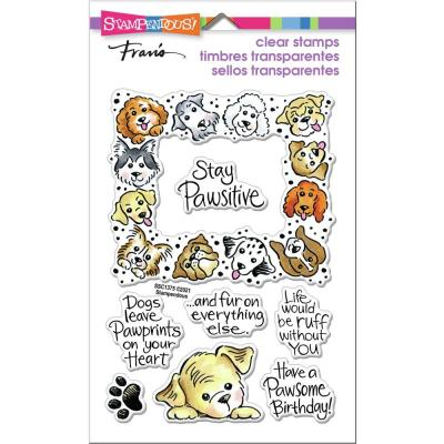 Stampendous Perfectly Clear Stamps - Puppy Frame