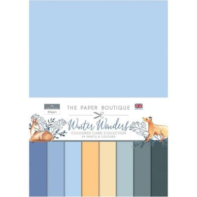 The Paper Boutique Winter Wonders Cardstock - Colour Card Collection