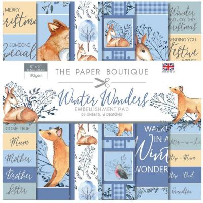 The Paper Boutique Winter Wonders Designpapier - Embellishments Pad