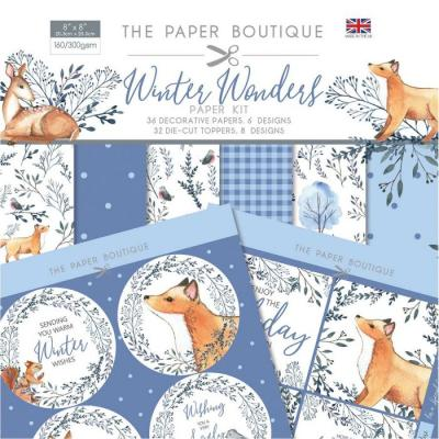 The Paper Boutique Winter Wonders Designpapier - Paper Kit