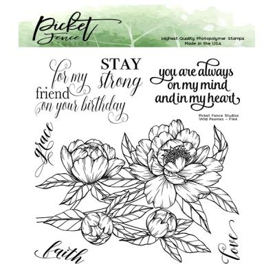 Picket Fence Studios Clear Stamps - Wild Peonies