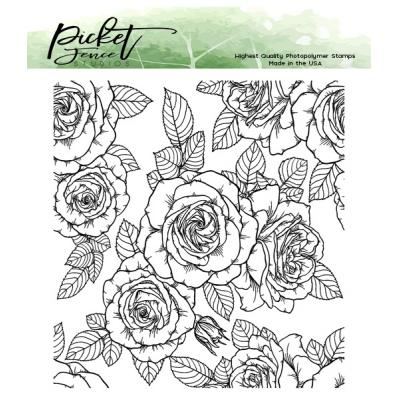 Picket Fence Studios Clear Stamps - Roses For All Seasons