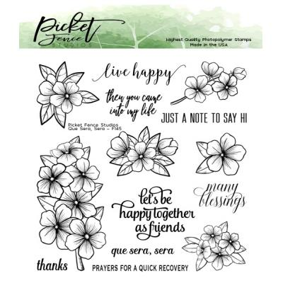 Picket Fence Studios Clear Stamps - Que Sera, Sera