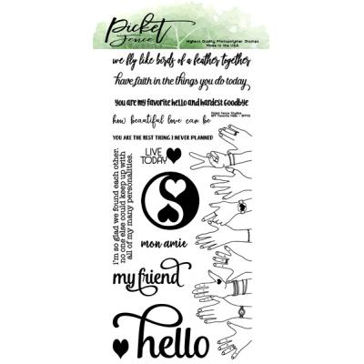 Picket Fence Studios Clear Stamps - BFF Favorite Hello