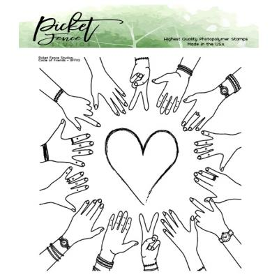 Picket Fence Studios Clear Stamps - BFF Circle of Friends