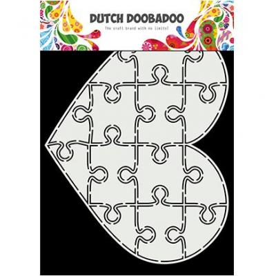 Dutch DooBaDoo Card Art - Puzzle Heart