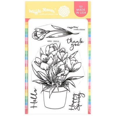 Waffle Flower Crafts Clear Stamps - Crocus