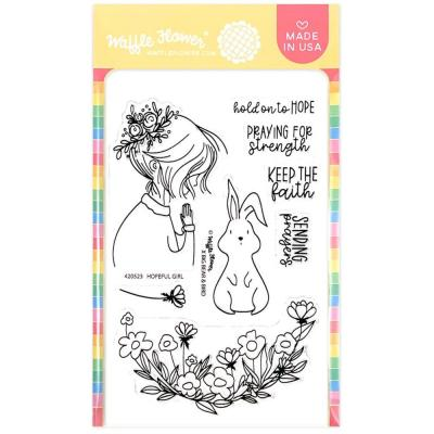 Waffle Flower Crafts Clear Stamps - Hopeful Girl