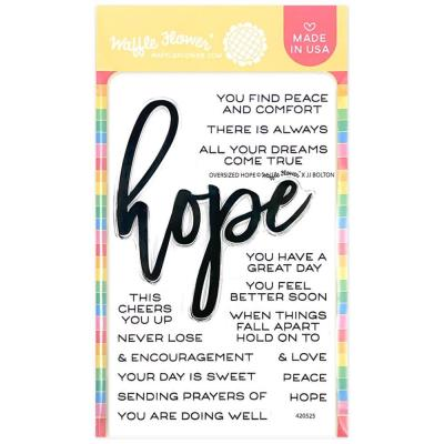 Waffle Flower Crafts Clear Stamps - Oversized Hope