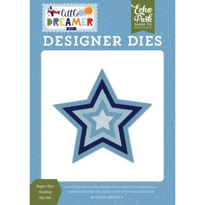 Echo Park Little Dreamer Boy Die Set - Super Star Nesting
