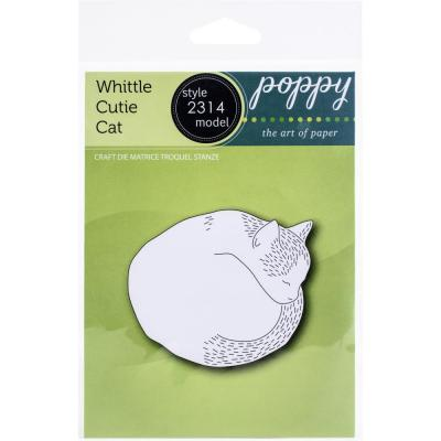 Poppystamps Metal Die - Whittle Cutie Cat