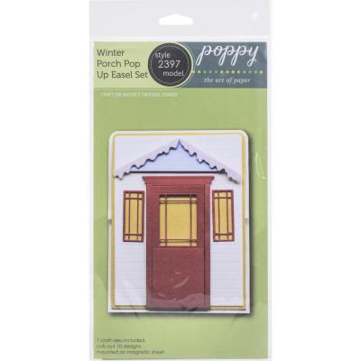 Poppystamps Metal Dies - Winter Porch Pop Up Easel