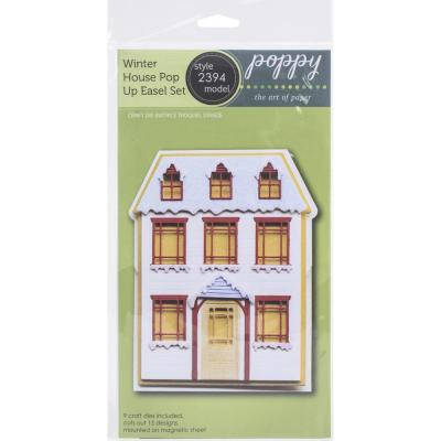 Poppystamps Metal Dies - Winter House Pop Up Easel