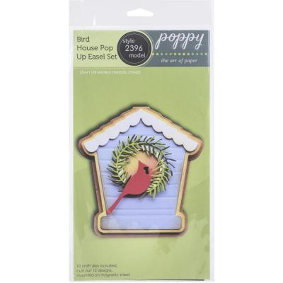 Poppystamps Metal Dies - Bird House Pop Up Easel