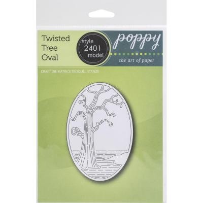 Poppystamps Metal Die - Twisted Tree Oval