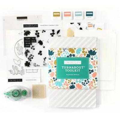 Concord & 9th Bastel-Kit Turnabout Toolkit - Painted Petals