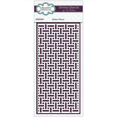 Creative Expressions Stencil - Basket Weave