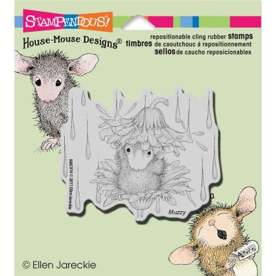 Stampendous House Mouse Cling Stamp -  Rain Flower