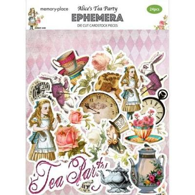 Asuka Studio Memory Place Alice's Tea Party Die Cuts - Ephemera