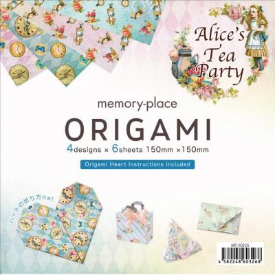 Asuka Studio Memory Place Alice's Tea Party Designpapier - Origami