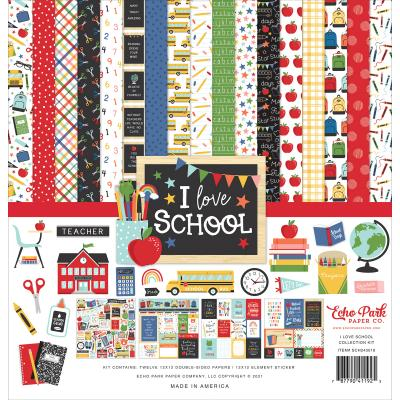 Echo Park I Love School Designpapier - Collection Kit
