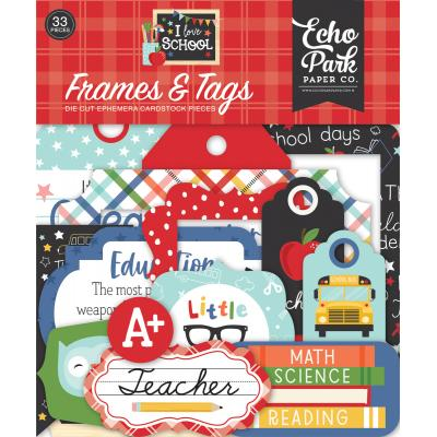 Echo Park I Love School Die Cuts - Frames & Tags