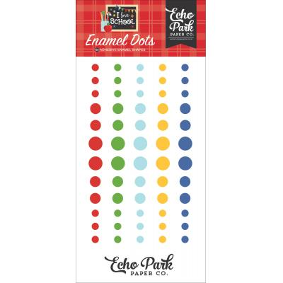 Echo Park I Love School Embellishments - Enamel Dots