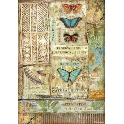 Stamperia Amazonia Rice Paper - Butterfly