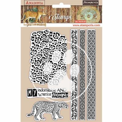Stamperia Amazonia Natural Rubber Stamp - Tribals