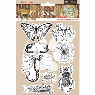 Stamperia Amazonia Natural Rubber Stamp - Butterfly
