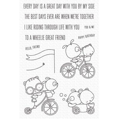 My Favorite Things Clear Stamps - Wheelie Great Friend