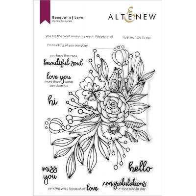 Altenew Clear Stamps - Bouquet Of Love